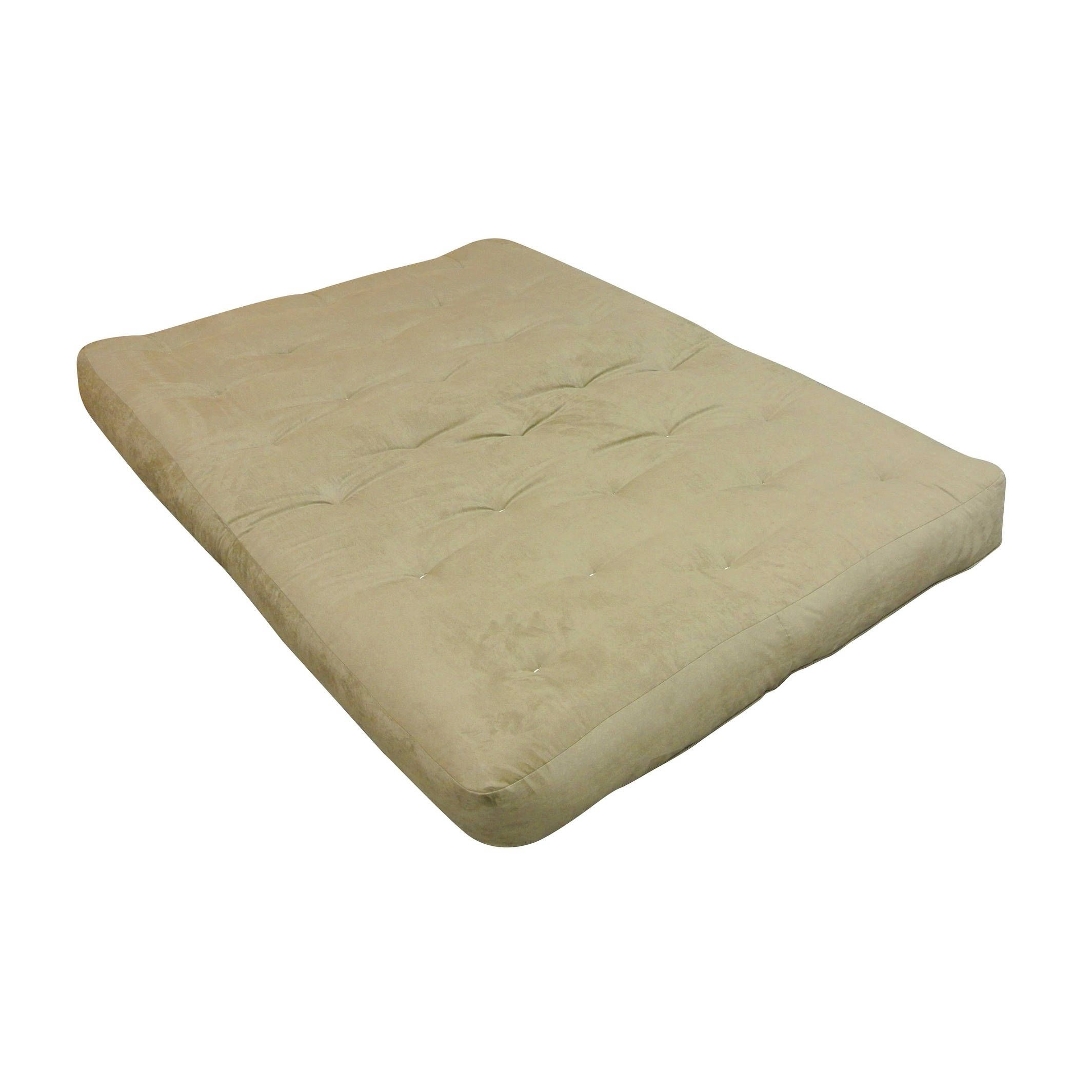6 Single Foam Cotton 21x39 Twin Loveseat Ottoman Chocolate Microfiber Futon Mattress Brown