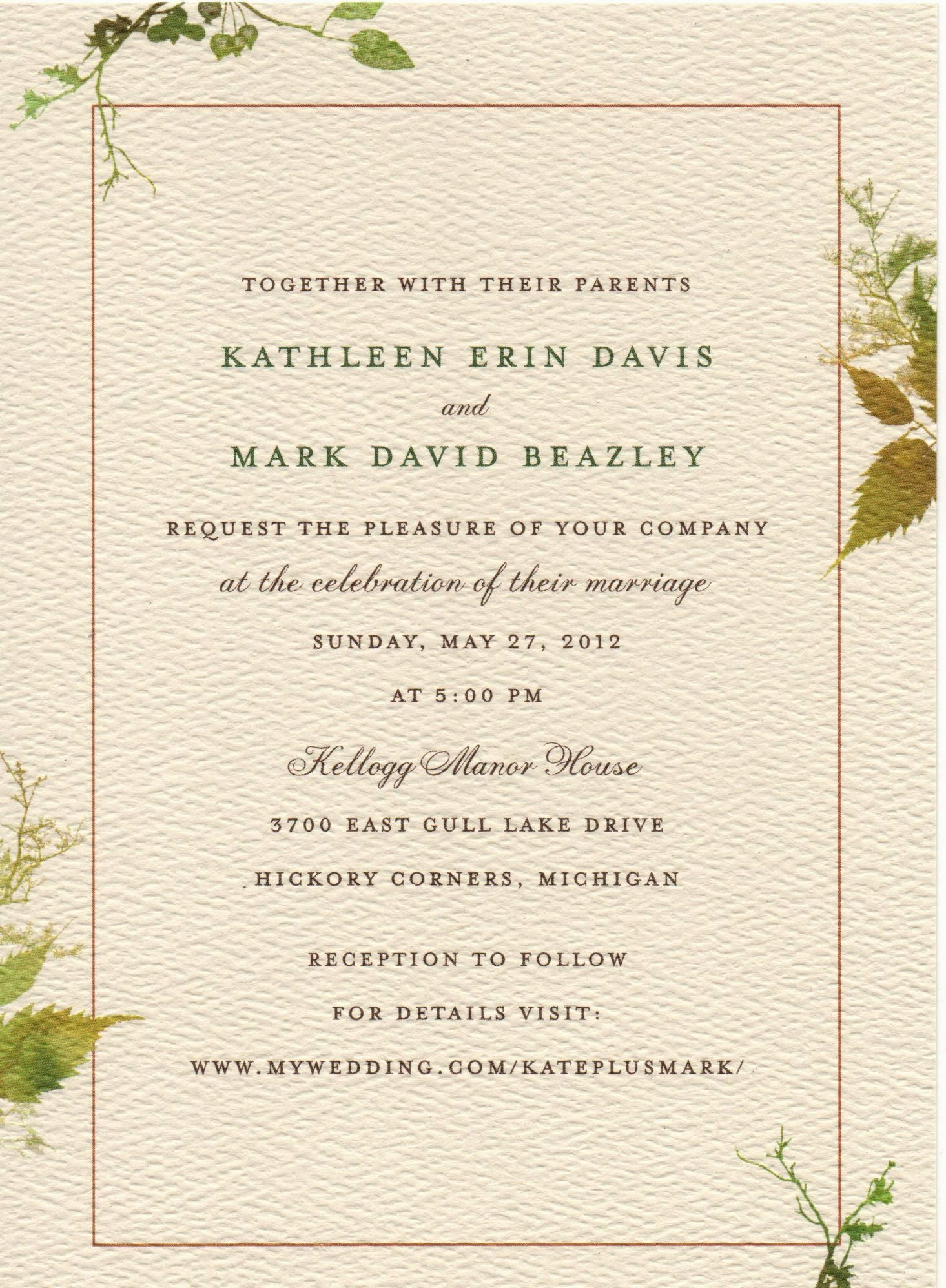 What Should A Wedding Invitation Say Elegant As Diy