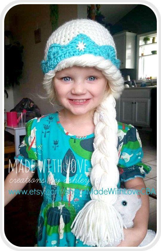 La Reine Elsa Frozen chapeau inspiré de crochet par MadeWithLoveCba ...