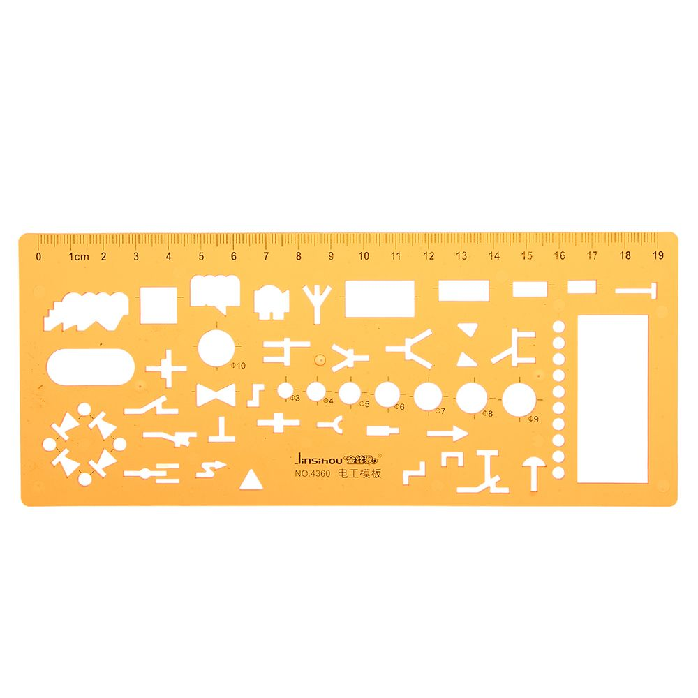 Physical Electrical Circuit Symbols Drafting Drawing Template KT Soft Plastifc R