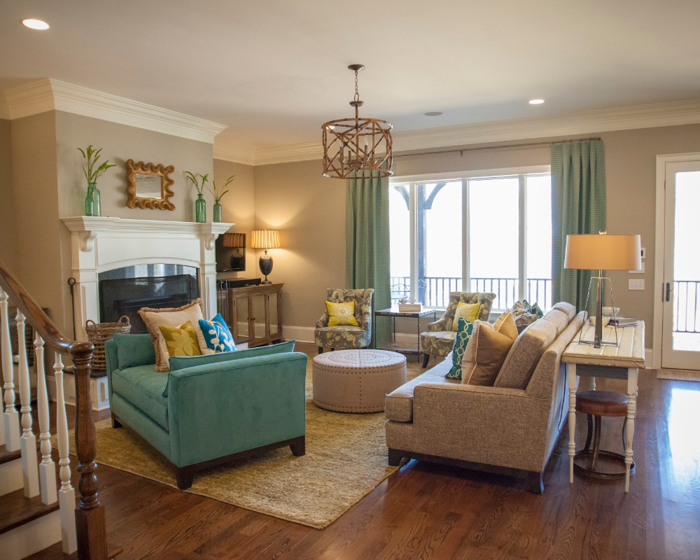 10+ Amazing Teal And Chocolate Living Room