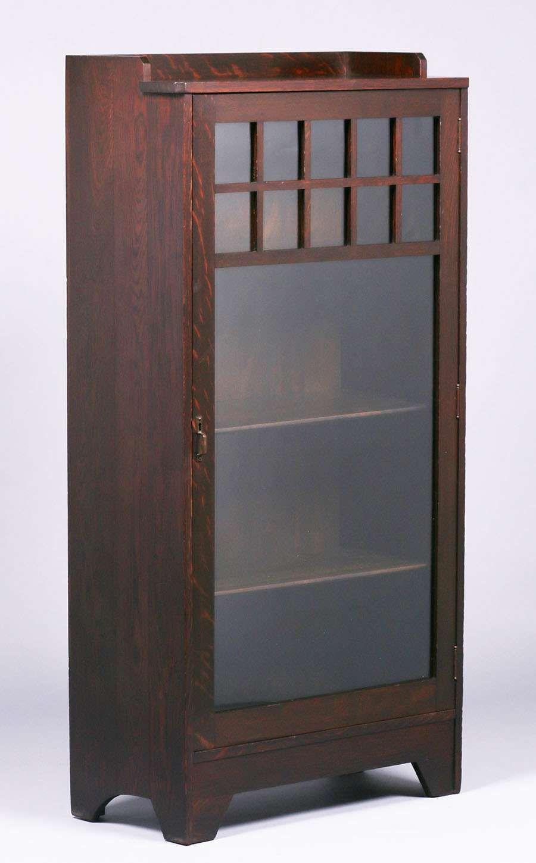 3391 Lifetime Furniture Co One Door Bookcase Excellent Original Finish Outline Of Paper Label On Back 55 25 Furniture Bookcase Arts Crafts Style