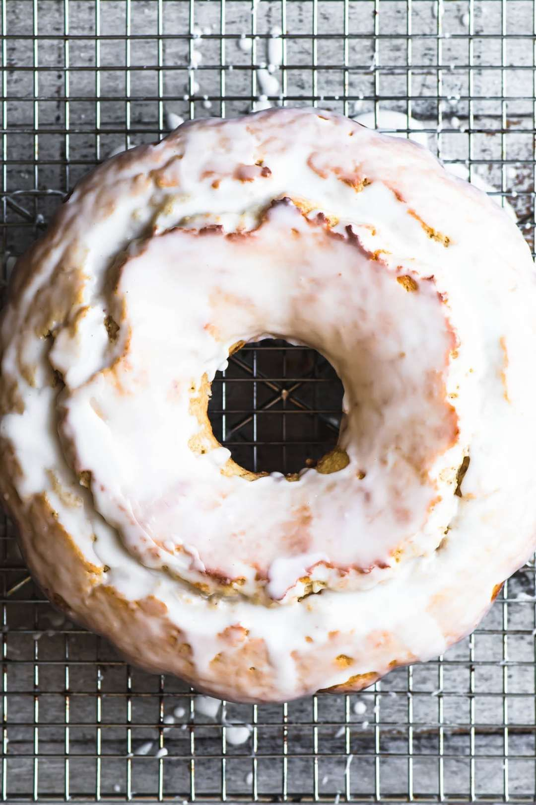 Glazed Old Fashioned Buttermilk Doughnut Bundt Cake | The View from Great Island