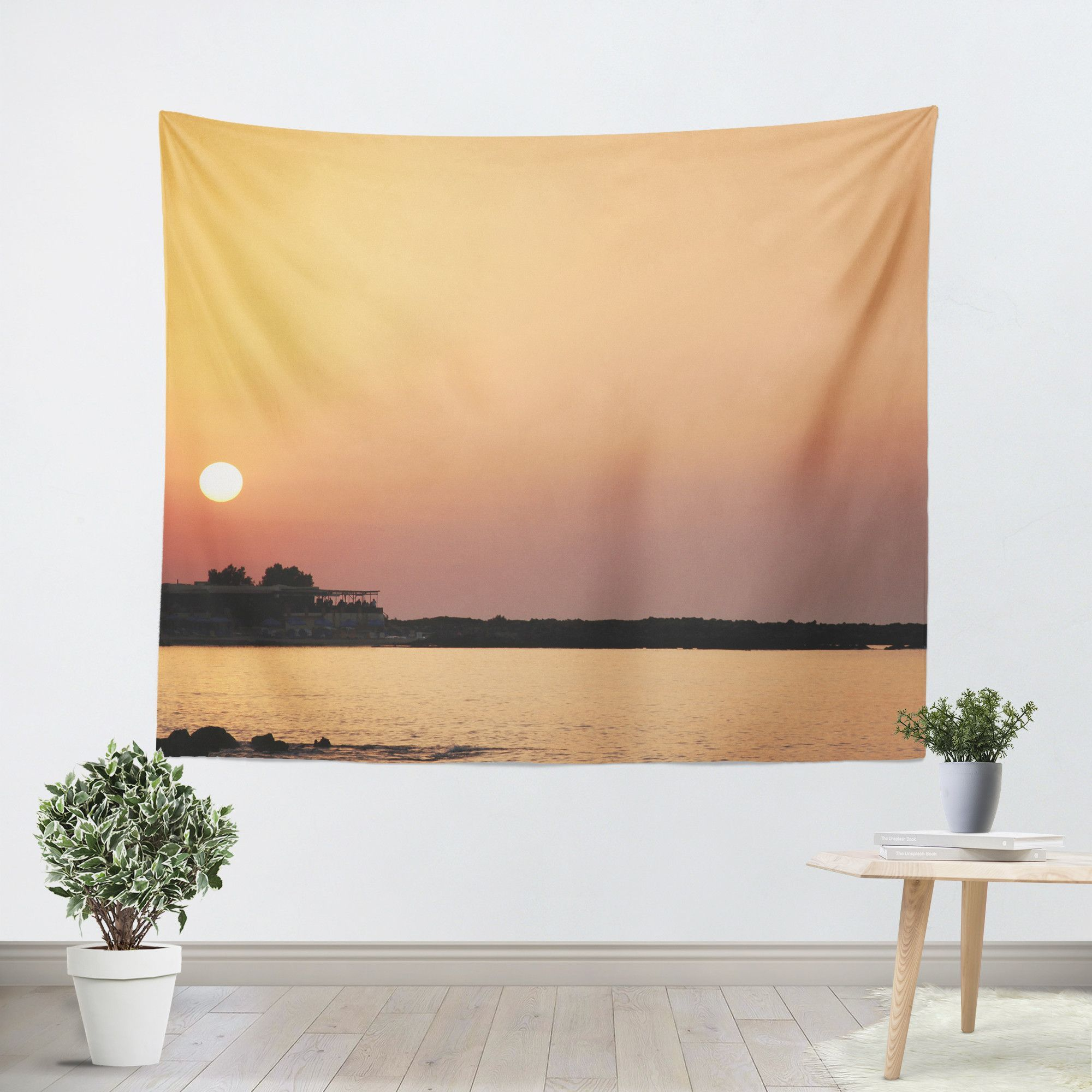 Sunset on the Beach Tapestry | Tapestry, Sunset and Beach