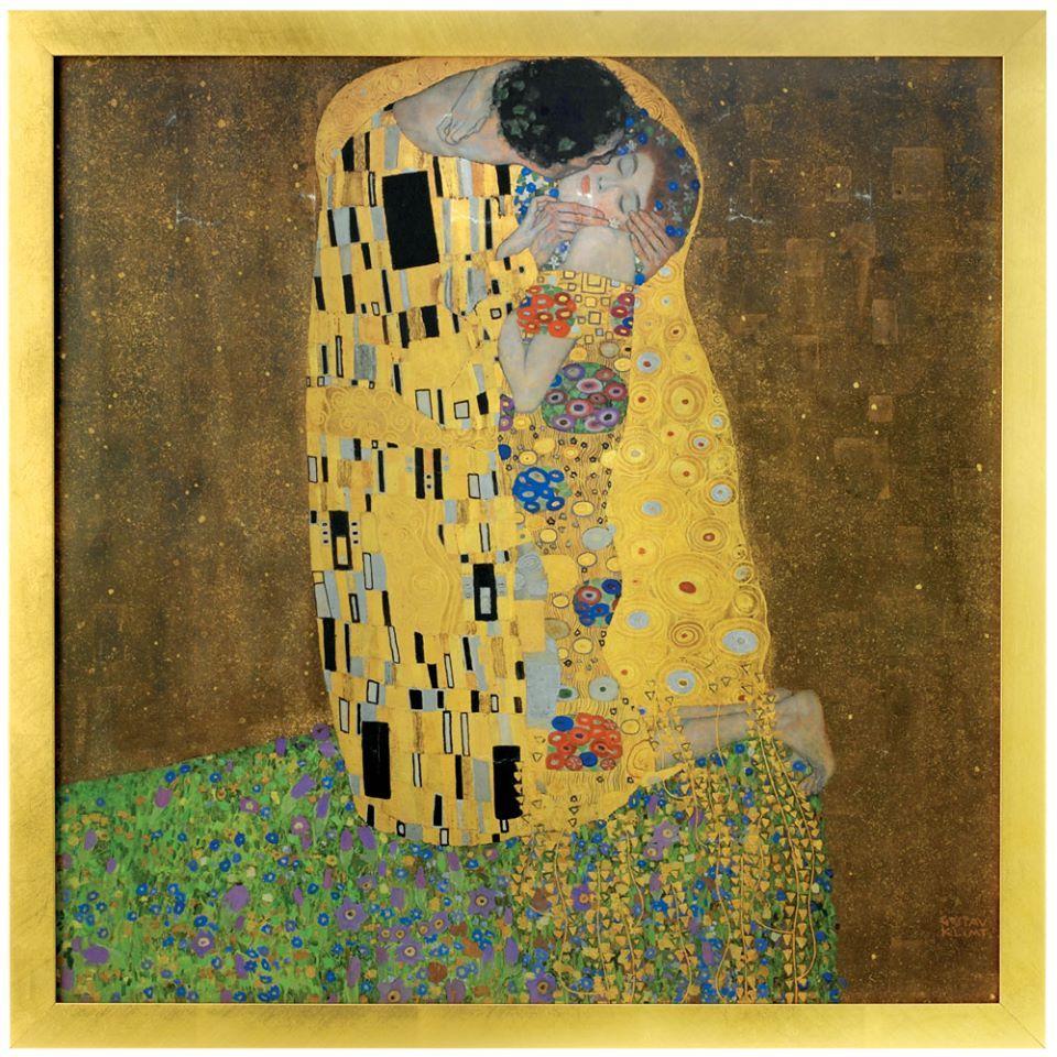 Gustav Klimt: The Kiss Framed Panel   Nouvelles perspectives ...