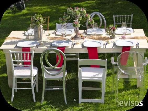 venta y alquiler sillas y mesas para decorar eventos mobiliary events sas trae para colombia una