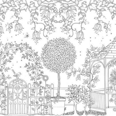 free printable secret garden coloring pages | upload/image/nl_20-postcards-secret-garden-binnenwerk ...
