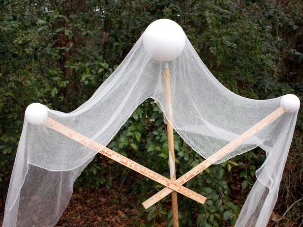 Halloween Gartendeko Zum Selbermachen Gespenst Rahmen Halloween Gartendeko Halloween Deko Vorgarten Halloween Deko Garten