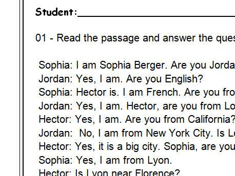 Where Are You From? Reading Comprehension Dialogue-Based ...