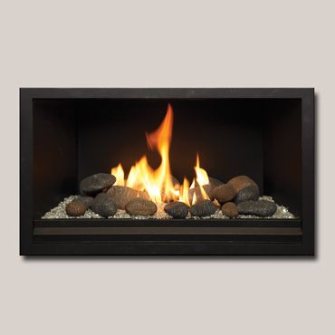 Cosmo 32 Gas Fireplace With Stones Google Search