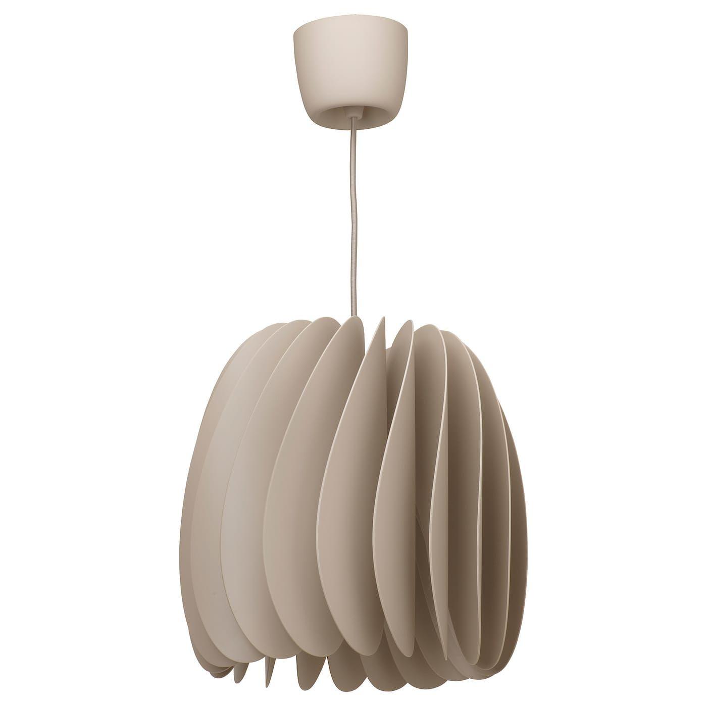 Ikea Skymningen Pendant Lamp Beige In 2020 Anhanger Lampen Deckenlampe Und Led Lampe