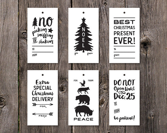 INSTANT PDF DOWNLOAD of an 8.5x11 sheet containing 6 different Christmas Tags. The tags are 2.375 x 4.3125 and can be printed on paper and hole punched or printed on sticker paper to make adhesive labels.  Make your Christmas gifts extra special with these fun modern gift tags!  PLEASE NOTE that your purchase licenses you to print these Sweet Peony Press copyrighted tags for your personal use only. Not for commercial use or re-sale.