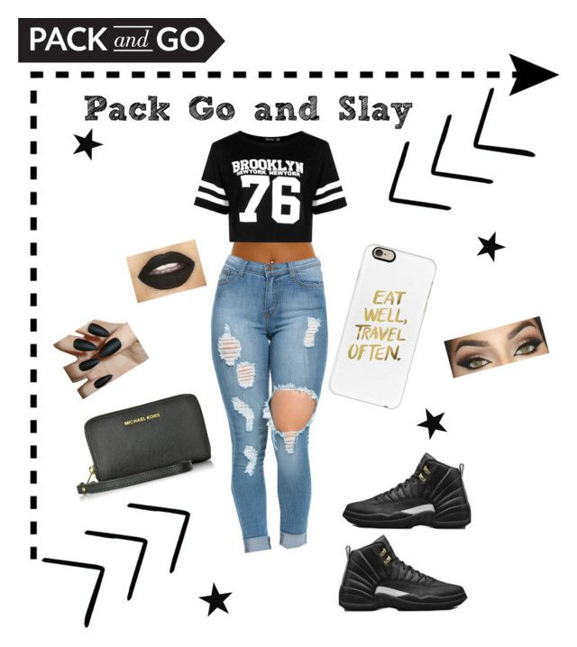 """Casual outfit"" by oyeket14 ❤ liked on Polyvore featuring Boohoo, Retrò, Casetify and Michael Kors"