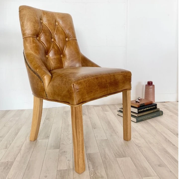 Stanton Leather Dining Chair In 2020 Leather Dining Chairs Dining Chairs Brown Leather Chairs