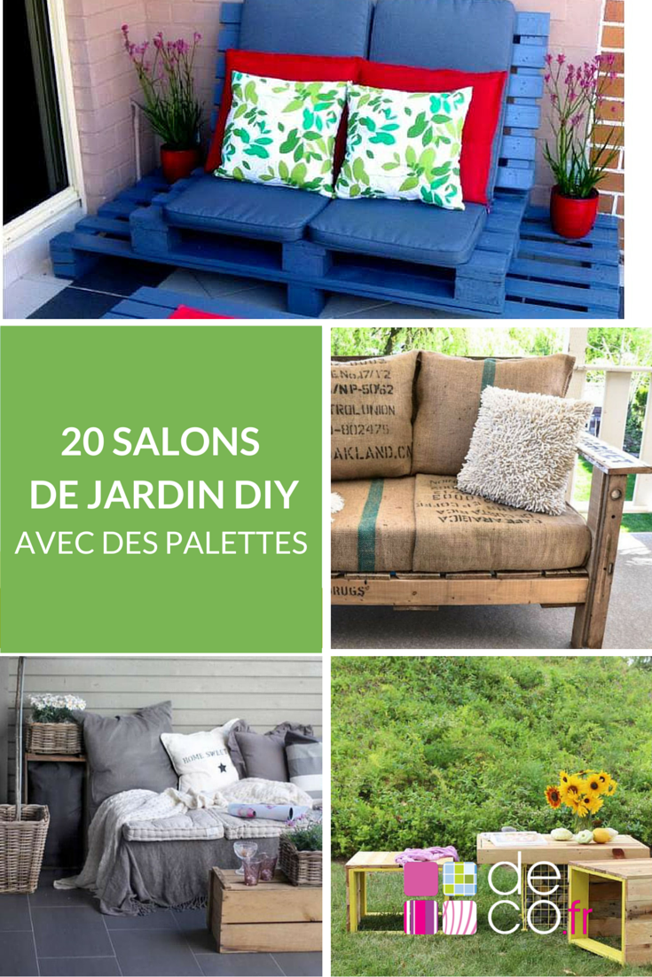 20 id es pour fabriquer un salon de jardin avec des. Black Bedroom Furniture Sets. Home Design Ideas