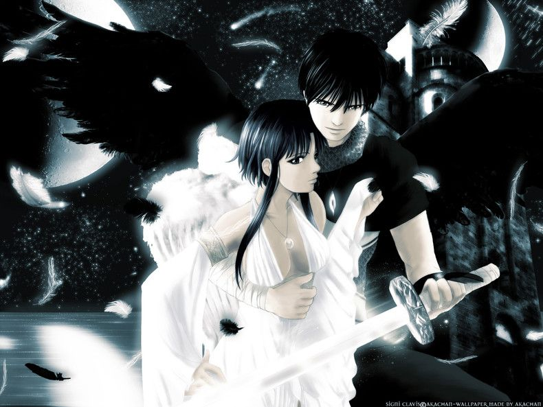 Angels anime couples wallpapers - Dark anime couples ...