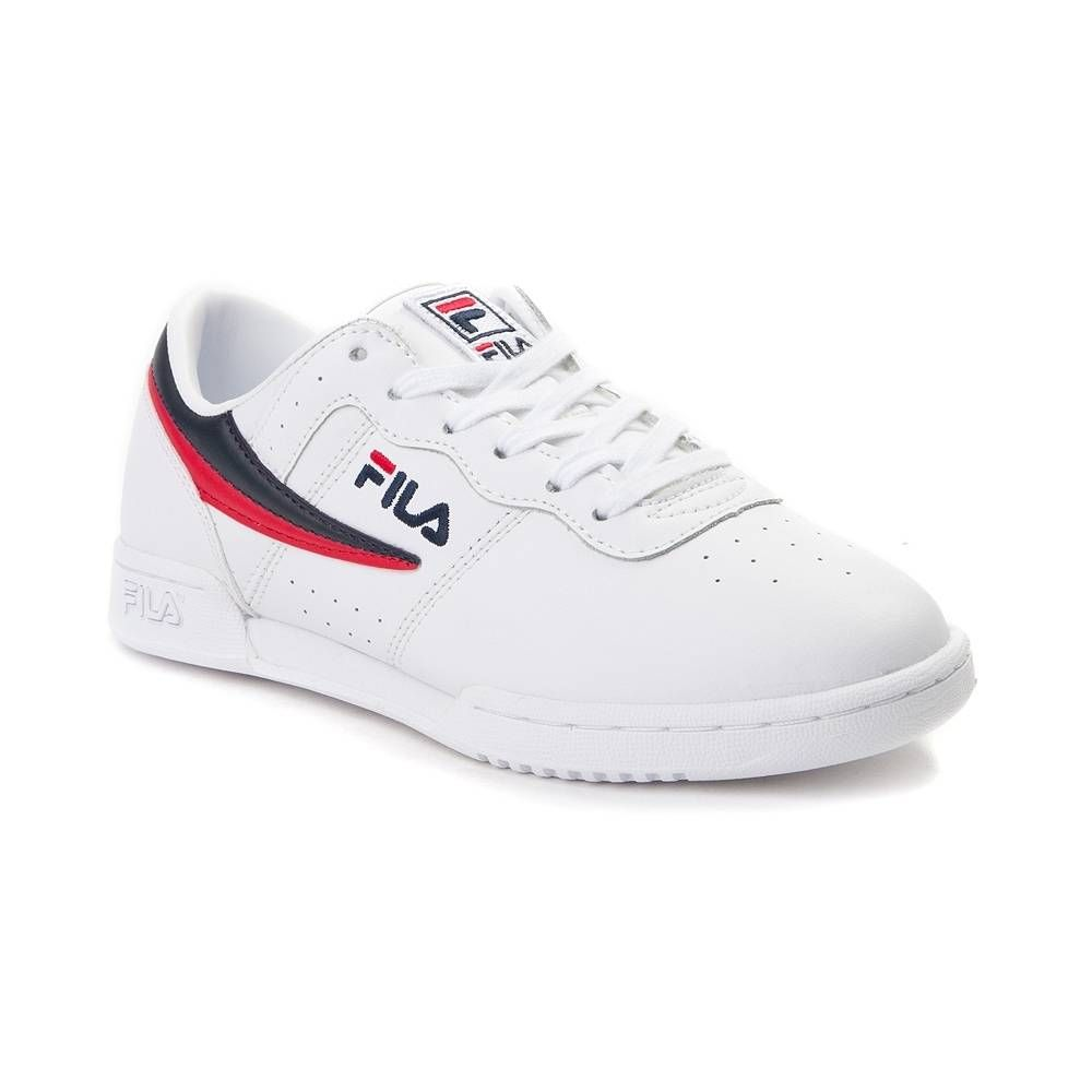 Womens Fila Original Fitness Athletic Shoe White Navy Red 452009 Womens Athletic Shoes Fila Original Fitness Stylish Sneakers