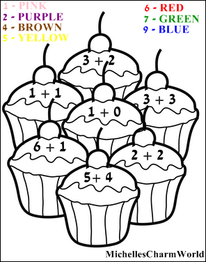 fun with learning addition coloring sheet michellescharmworld - Fun Pictures To Color