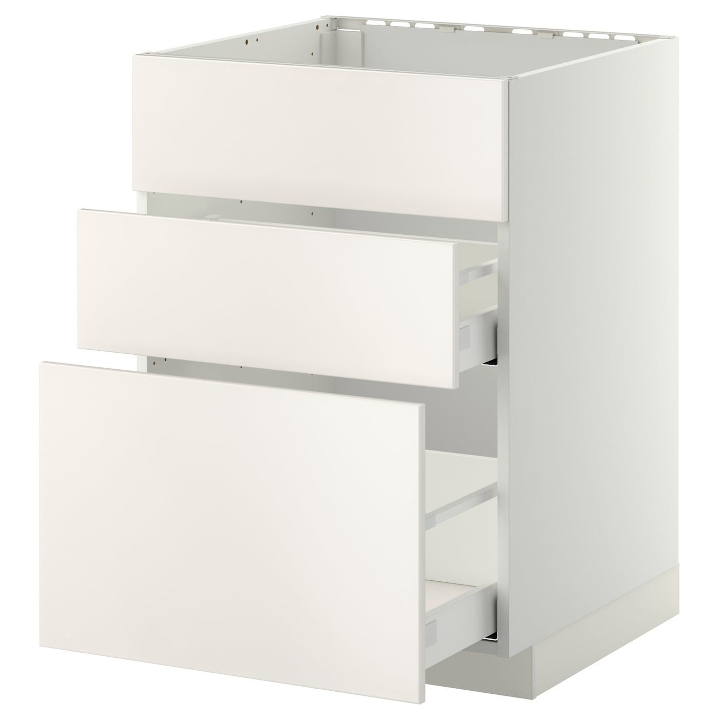 Metod Maximera Base Cab F Sink 3 Fronts 2 Drawers White Veddinge White 60x60 Cm With Images Ikea Drawers Cabinet