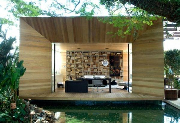 Fertighaus holz bungalow  Holzbungalow Fertighaus - 50 hochmoderne Holz- und Blockhäuser ...