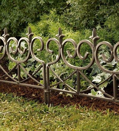 Wrought Iron Edging Fences We Need Something Like This Around