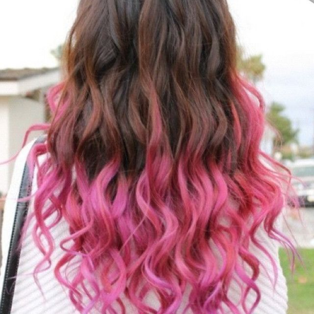 highlighted tips of hair | Pink Highlights for Brown Hair ...