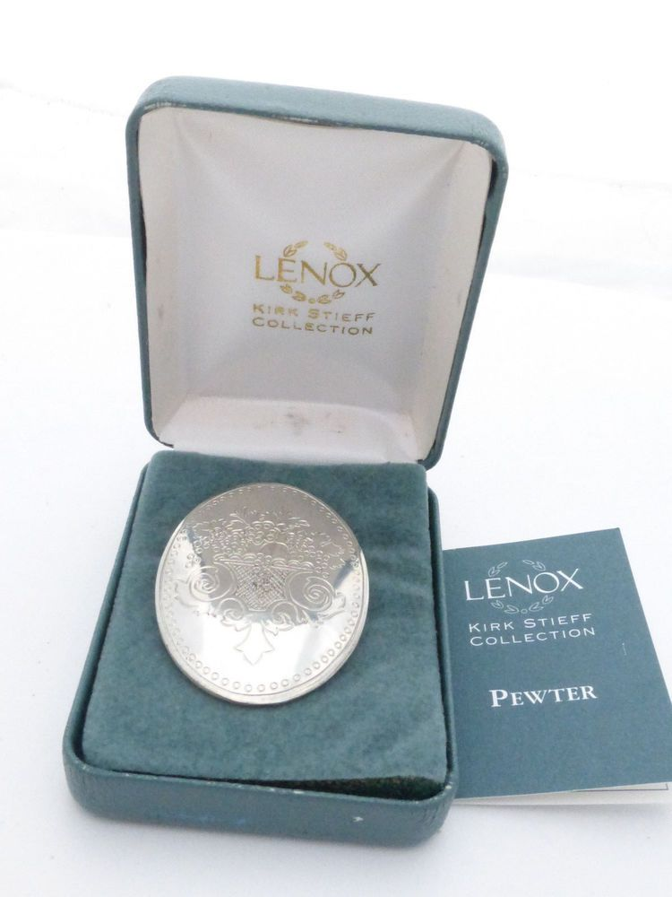 Lenox Kirk Stieff Collection Autumn Pewter Brooch in Original Box #LenoxKirkStieff