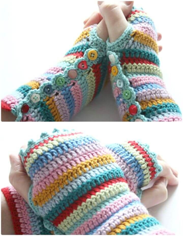 54 Free Crochet Fingerless Gloves Pattern For Beginners Crochet