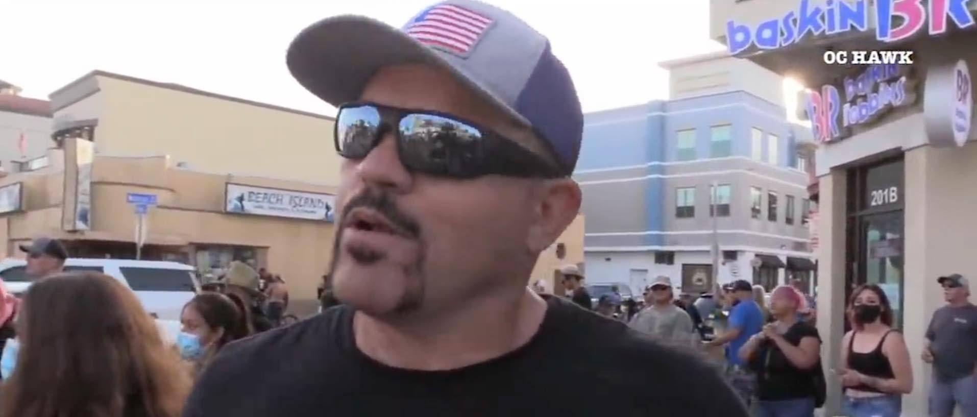 The Ice Man Calmeth Watch Chuck Liddell Cool Down George Floyd Protest Tensions In Huntington Beach Chuck Liddell Huntington Beach Chucks