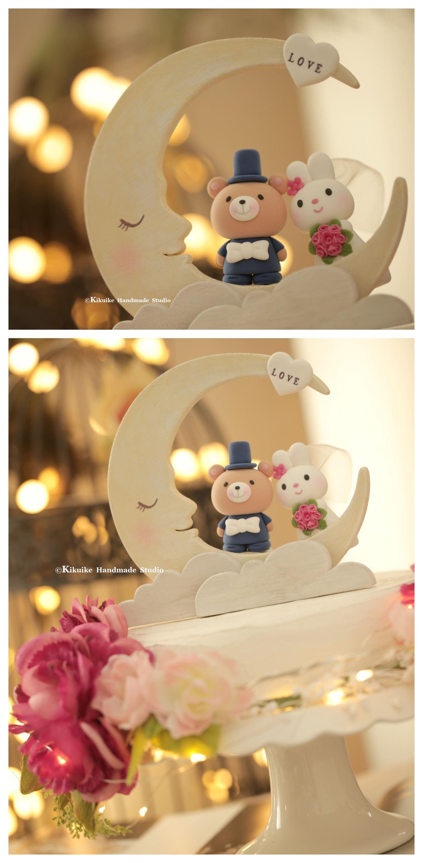 Rabbit,bunny and bear wedding cake topper | Wedding | Pinterest ...