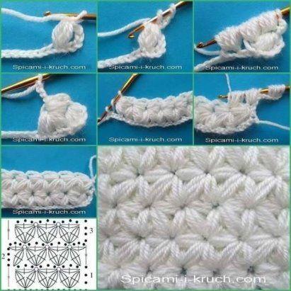 Best 12 Punto Jazmín O Estrella Doble Tejido A Crochet Video Tutorial Del Paso A Paso Tejidos De Ganchillo Bolsos De Ganchillo Técnicas De Ganchillo
