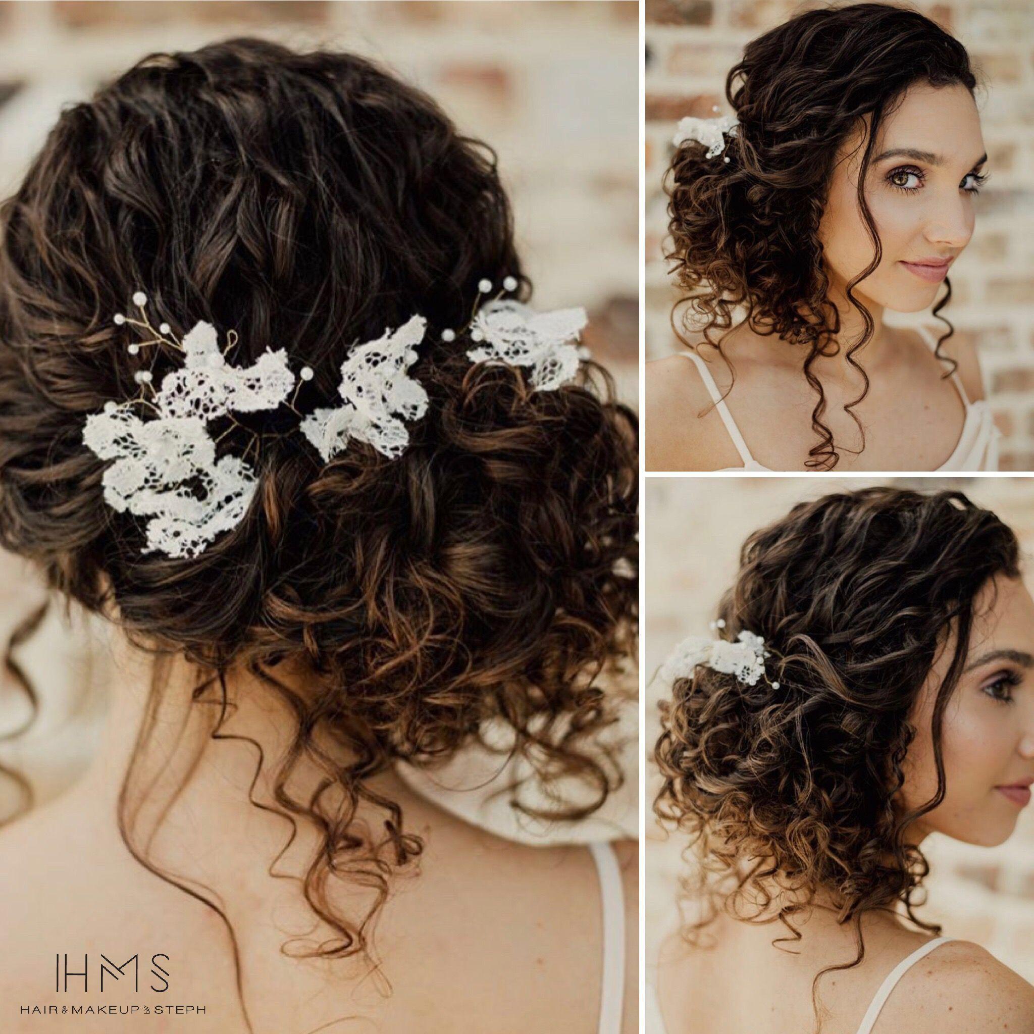Naturally Curly Bridal Updo Curl Natural Bride Bridal Updo Wedding Hair Speci Curly Wedding Hair Curly Hair Styles Naturally Naturally Curly Hair Updo