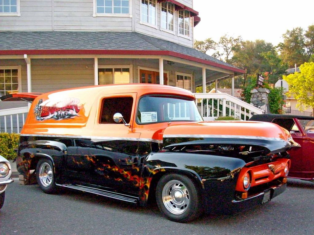 1956 Ford F100 Panel Classic Cars Trucks Ford Pickup Trucks