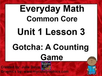 math worksheet : everyday math 4 edm4 common core edition 1 3 gotcha a counting  : Everyday Math Kindergarten Games