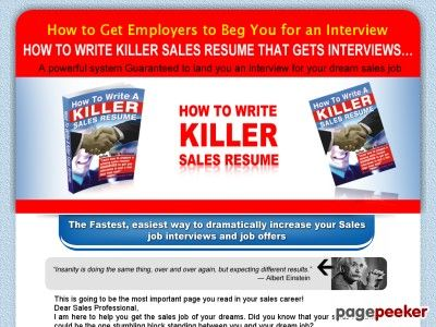 How to write a Killer Sales Resume — Create Sales Resumes GUARANTEED to Get You Interviews!
