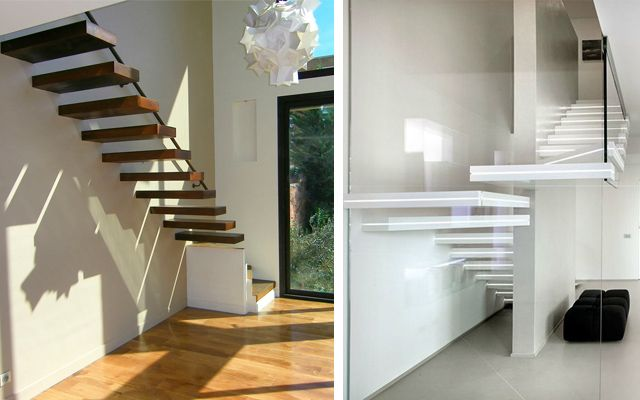 decoracin de escaleras voladas