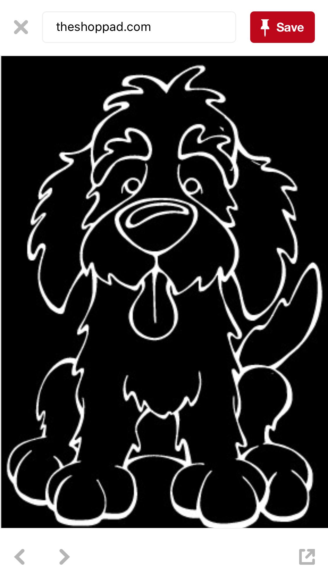 Pin By Teri Vandeven On Cricut Fonts Images Svg Png Vector Dog Decals Labradoodle Art Labradoodle [ 2001 x 1125 Pixel ]