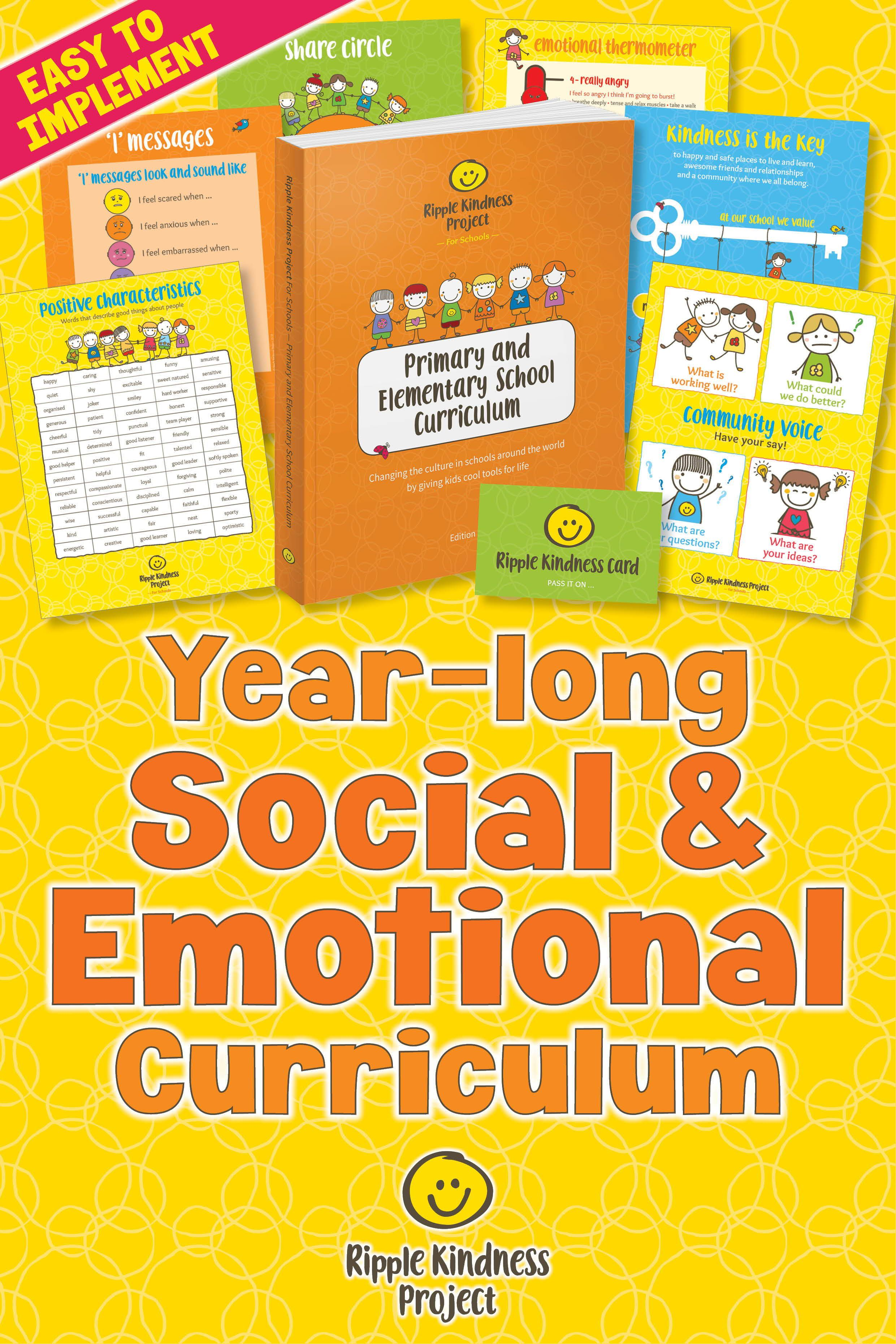 Kindness Curriculum Shown To Improve >> Year Long Or Whole School Social And Emotional Learning Activities