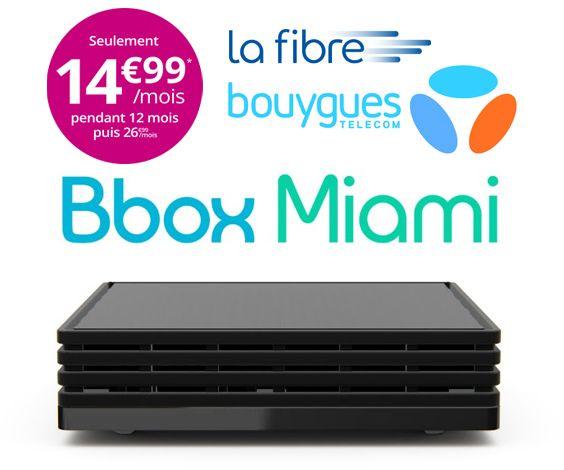 En Ce Moment La Bbox Miami Est A 14 99 Mois Sur 12 Mois Quel Que