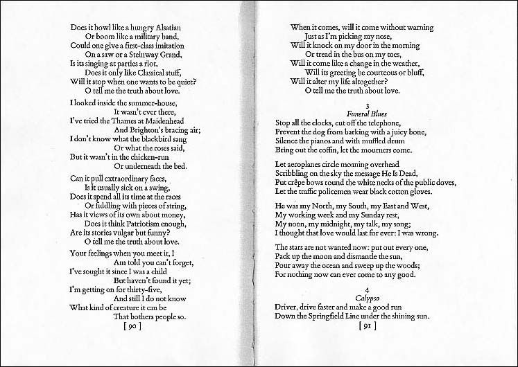"""W. H. Auden """"Funeral Blues"""" (the poem in Four Weddings And ..."""