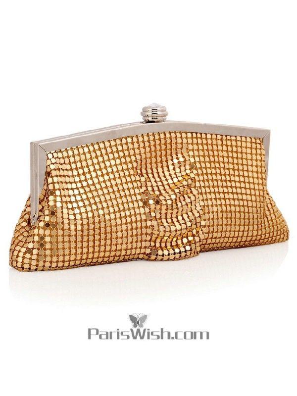 Handbag Gold Metallic Wedding Evening Handbags Clutches Online