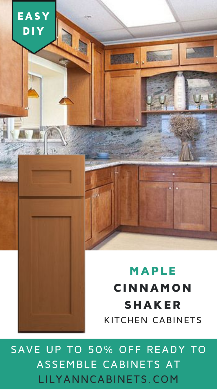 Add The Warmth Of Cinnamon To Your Kitchen With Lilyanncabinets Best Selling Cinnamon Shaker Cabi Kitchen Cabinets Clean Kitchen Cabinets Buy Kitchen Cabinets