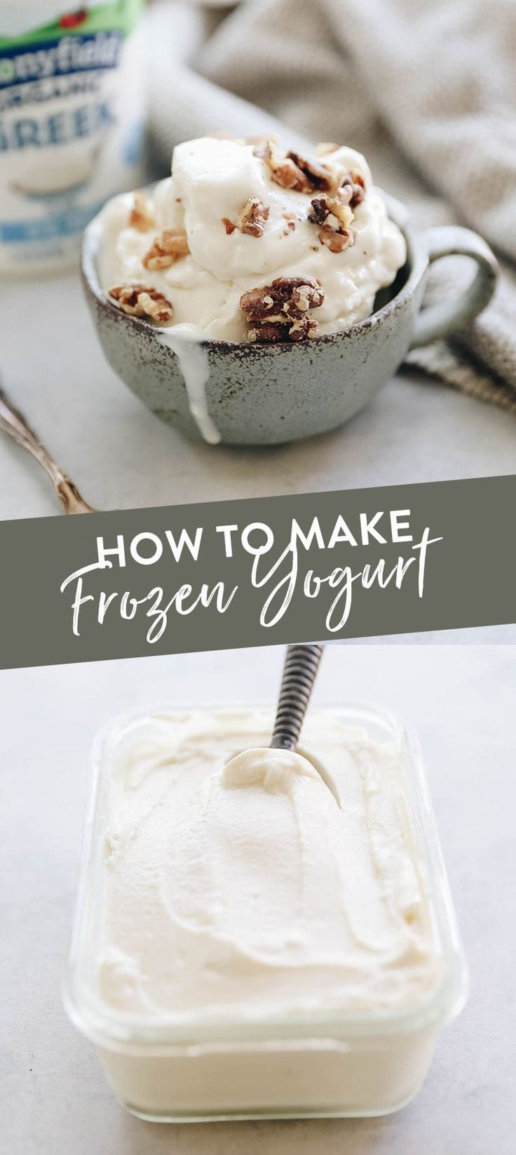 How To Make Frozen Yogurt | Just 3 Ingredients! - The Healthy Maven  - Frozen yogurt -