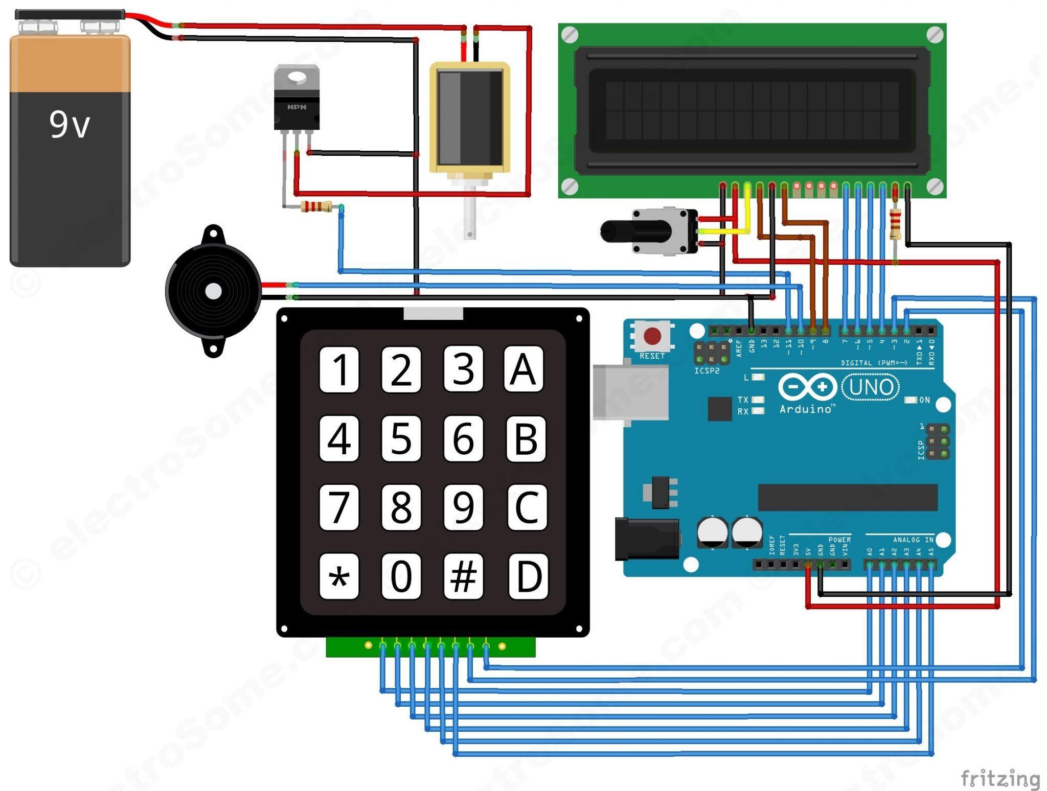 digital door lock using arduino circuit diagram [ 2048 x 1548 Pixel ]