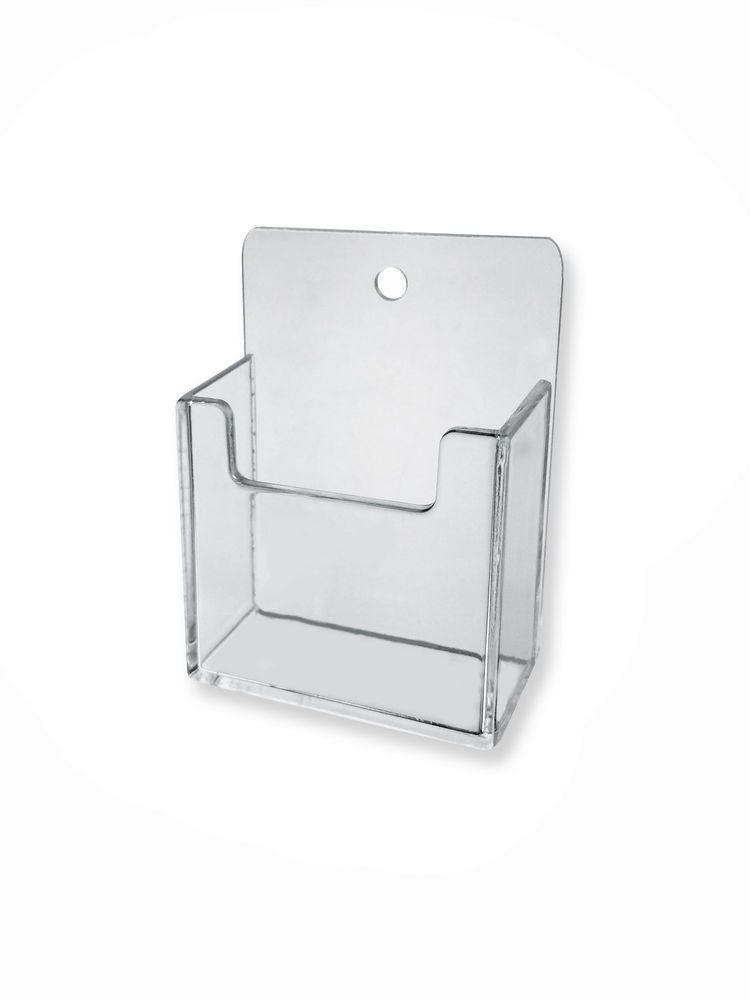Clear Plastic Wall Mount Vertical Business Card Holder Display