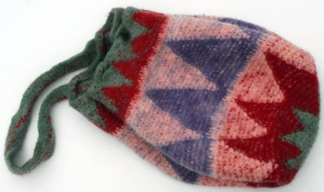Closed Felted Tapestry Crochet Bag - Tapestry crochet shrinks and felts like magic in a washing machine.