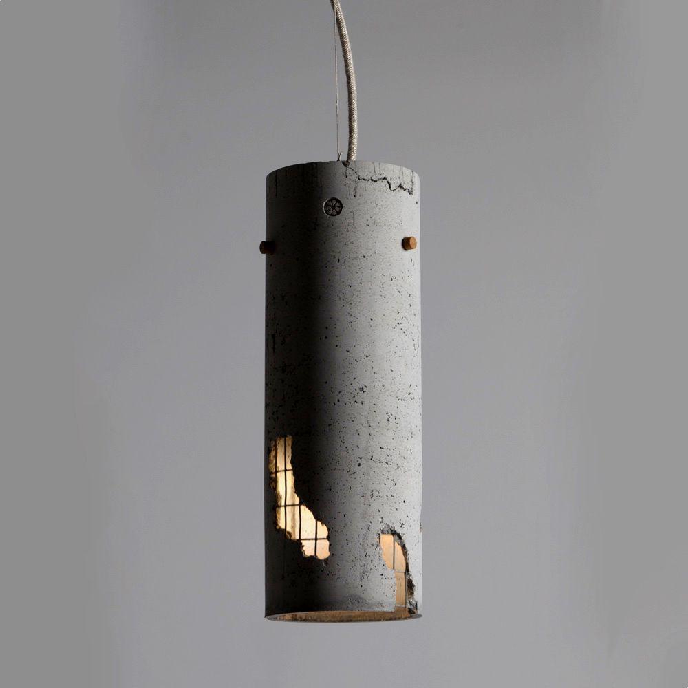 handmade lighting design. Concrete Pendant Light Designed And Handmade In Greece. #ConcreteLamp Lighting Design
