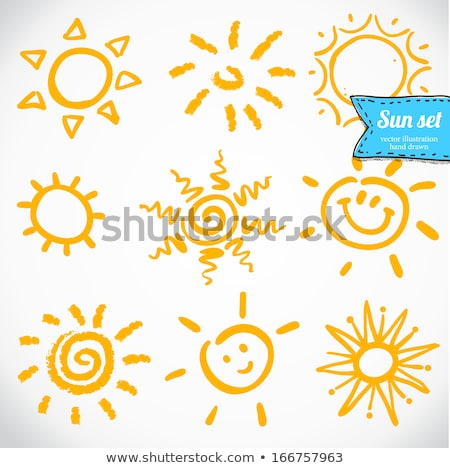 Vector Set Of Different Suns Isolated Hand Drawn Illustration Simple Doodles Nature Vector Vector