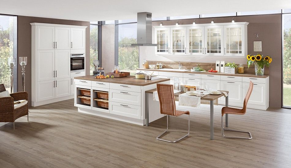Landhaus-Einbauküche Norina 9977-Weiss-Lack - Küchen Quelle Küche - www küchen quelle de