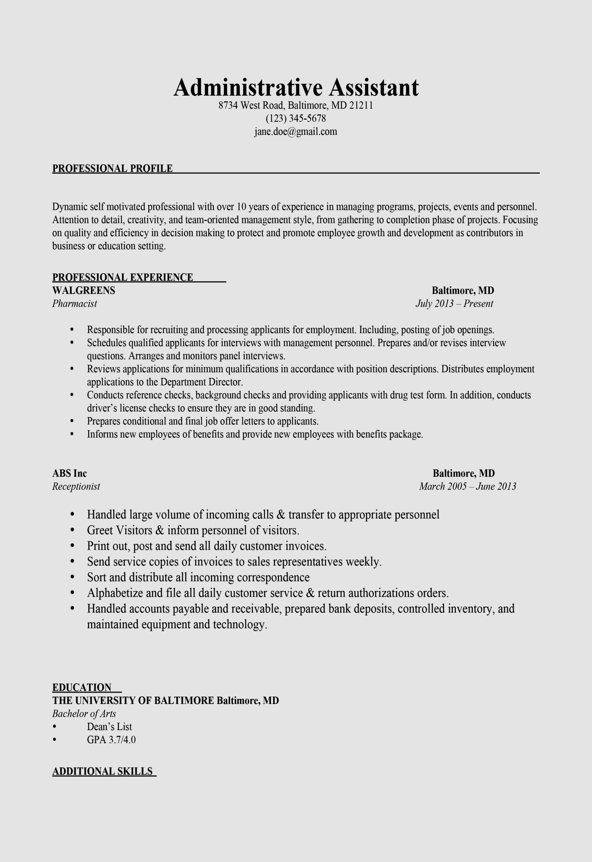 administrative assistant resume examples 2018 awesome 17 staff nurse format nanny cv template download medical interpreter duties